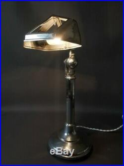 Lampe de bureau orientable PIROUETT vintage atelier chrome Art Déco 1930