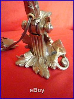Lampe de bureau orientable en bronze époque Art-Déco