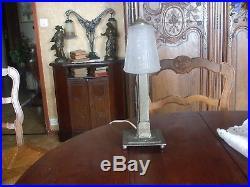 Lampe de table art/deco verre signé muller
