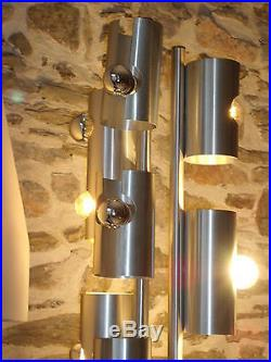 Lampe de table ou de sol 60/70's alu brossé R. Fontana