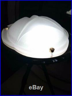 Lampe design vintage tripode soucoupe moderniste art deco