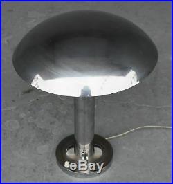 Lampe du bureau champignon métal chromé style Art déco 1930