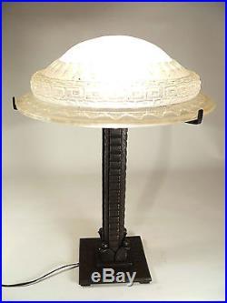 Lampe fer forgé Art Déco