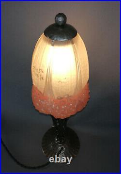 Lampe fer forgé Art Déco Art Nouveau de Hettier et Vincent