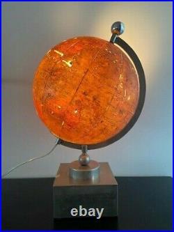 Lampe mappemonde globe terrestre FOREST de ADNET Art Déco Circa 1930 moderniste