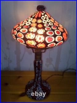 Lampe millefiori Fratelli Toso art deco Murano Venini millefiori lamp murrine