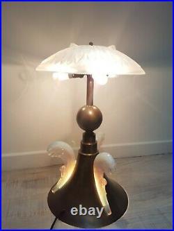 Lampe opalescente art déco