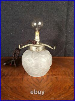 Lampe pate de verre LORRAIN Daum Nancy art déco XXe