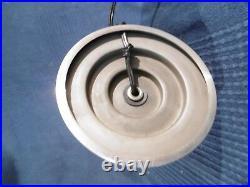 Lampe pied de lampe style jacques adnet pied chrome boule en verre ancien