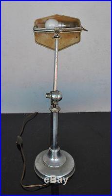 Lampe pirouette années 30 art déco en métal chromé