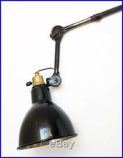 Lampe potence GRAS 203 Art Deco Bauhaus Industrial Factory Wall Lamp 1920 1930