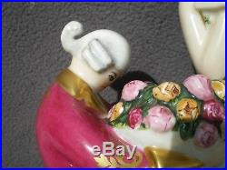 Lampe veilleuse art deco 1930 CHANTERAUD antique perfume lamp woman statue femme