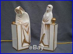 Lampe veilleuse art deco femme & homme oriental ELTE antique perfume lamp statue