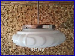 Lampe vintage art deco ceiling lamp opaline glass 1930/40 Ø 30 cm