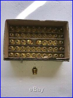 Lot De 50 Ancienne Douille B22 Laiton Lampe Vintage Avec Collerette De Serrage