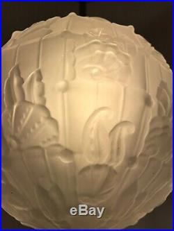 Lustre Art Deco Cherrier Besnus Lampe French Tulipe Applique Plaque Muller Daum