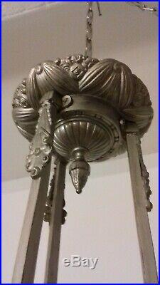 Lustre Art Deco Lampe 1930 Tulipe Daum Vasque Muller Degue Maynadier French
