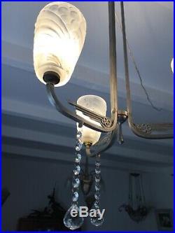 Lustre Art Deco Lampe 1930 Tulipe Negra No Muller Daum Gilles