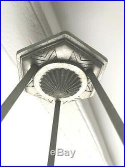 Lustre Art Deco Schneider Lampe 1930 Tulipe Daum Vasque Muller Degue French