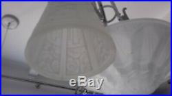Lustre Art Deco Signe Des Hanots Lampe French Applique Degue Muller Daum