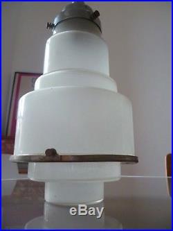 Lustre Art Deco Skyscraper Moderniste 1930 Lampe Lamp Gratte Ciel