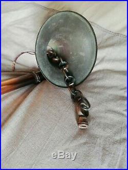 Lustre Suspension 5 Lampes Ezan 16 Verreries Opalescentes Art Deco Sabino