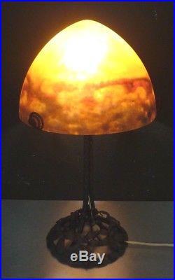 MULLER FRERES LUNEVILLE-Lampe art nouveau art deco 51cm-daum, schneider, lalique