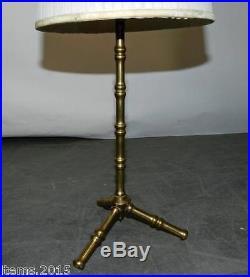 Maison Bagues, paire de lampe en laiton imitant le bambou