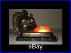 Max Le Verrier Daum Lampe Art Deco Rare
