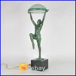 Max Le Verrier, Lampe Danseuse à La Coupe, Art Déco, XXème Siècle