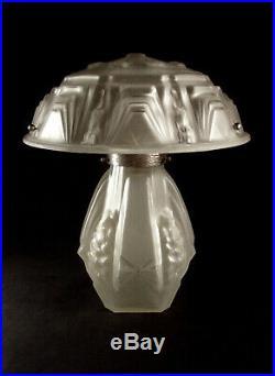 neuf Dôme en verre satiné lampe fer forgé art déco 1930 diamètre 18 cm