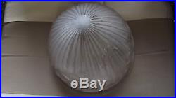 OBUS Globe EN VERRE ART DECO Signé SCHNEIDER Lampe, lustre vasque