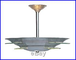lampe art deco original fran ais art d co plafonnier lampe suspension verre en aluminium. Black Bedroom Furniture Sets. Home Design Ideas