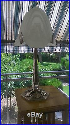 PARIS STAR LAMPE ART DECO 1930 52cm no METALARTE