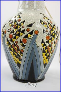 Pied De Lampe Céramique Art Deco Keramis Belgique