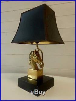 Paire De Lampes Pied Tete De Cheval Maison Charles Vintage Art Deco Jansen