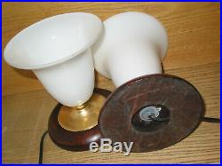 Paire de 2 lampes style MAZDA haut=19 x 16 de diamètre chevet ou autre art déco