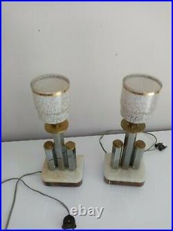 Paire de lampes art deco