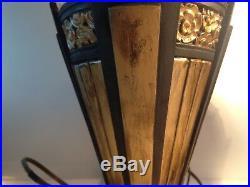 Paire de lampes de bureau Art deco Globe gravés à l'acide/Art Deco Desk lamps
