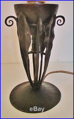 Petite LAMPE VEILLEUSE brûle parfum DAUM NANCY pâte de verre Art Nouveau / Déco
