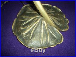 Pied De Lampe Bronze Tulipe Daum Muller Galle Art Deco/nouveau Pate De Verre
