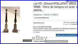 Pied De Lampe Poillerat Gilbert (1902-1988)