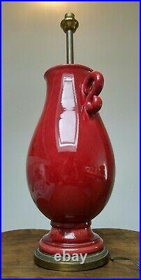 Pied de lampe Japonisant en céramique Bronze Paul MILET SEVRES Art-déco 1930's