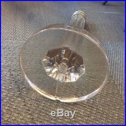 Pied de lampe cristal taillé moderniste 1930 cf Lalique, Daum