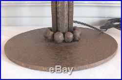 Pied de lampe fer forgé art déco dans le gout de Edgar Brandt ou Paul Kiss
