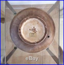 Pied de lampe vase boule en céramique 1920 Besnard Art déco