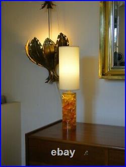 Pierre Giraudon Lampe vintage en résine fractale de 1970s. France