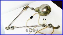 RARE LAMPE MODERNISTE TRIBORO à trois bras articulés