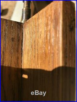 RARE pied lampe bois MODERNISTE ADNET ARBUS