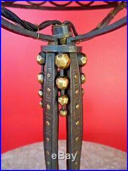 RAYMOND SUBES-Lampe art deco fer forgé martelé, brandt, kiss, katona, piguet
